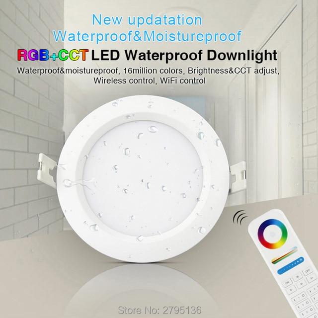 6W RGB + CCT Wasserdicht led downlights FUT063 IP54 220v einbau led Runde deckenplatte spot licht innen wohnzimmer bad