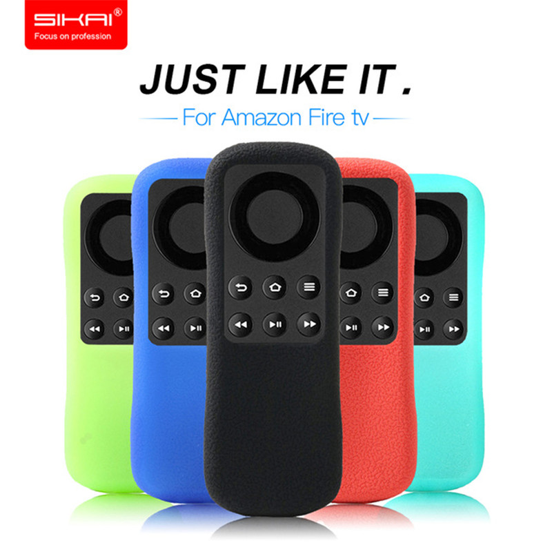 SIKAI New 1:1 Like Original Cover Replacement Remote Case For Amazon Fire TV Stick Remote Silicone Case For Amazon Fire TV Stick