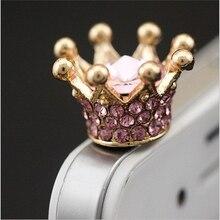 Мобильный телефон Наушники 3.5 мм AUX Jack Dust Разъем императорская корона 3.5 алмазов enchufe дель полво для apple Iphone 4 5 6 ПК latop пробки