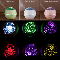GRTCO LED Projection Lamp Ultrasonic Air Humidifier Household Electric Aroma Essential Oil Diffuser 150ML DC12V Night