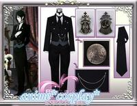 Black Butler 2 Kuroshitsuji Sebastian Michaelis Cosplay Costume Unisex Uniform