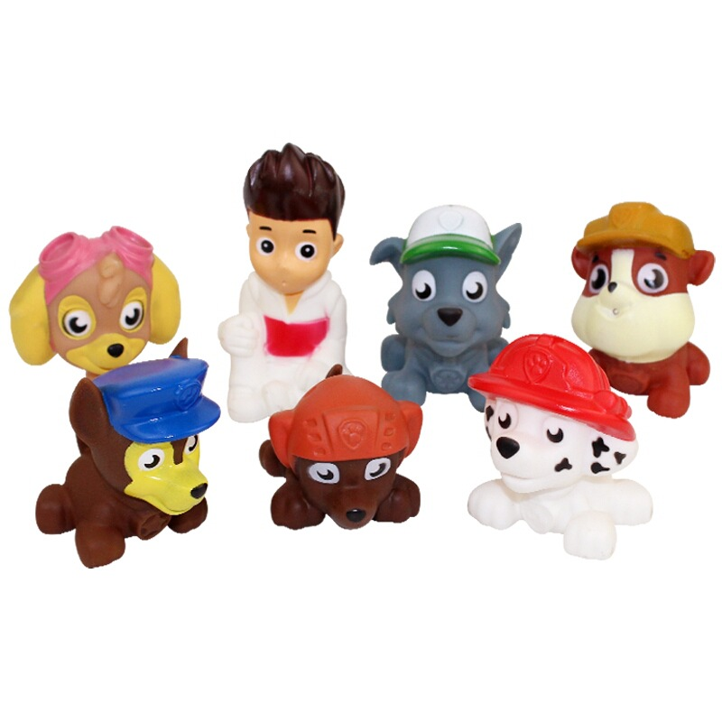 Paw Patrol Classic Baby Bath Toys Toys Bathing And Pinching Water Toys  Patrols  Children's Swimming  Silicone Toy For Children