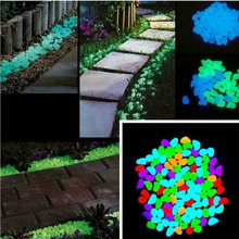 The Dark Artificial Luminous Pebbles Stone Auarium Fish Tank Decoration Accessories