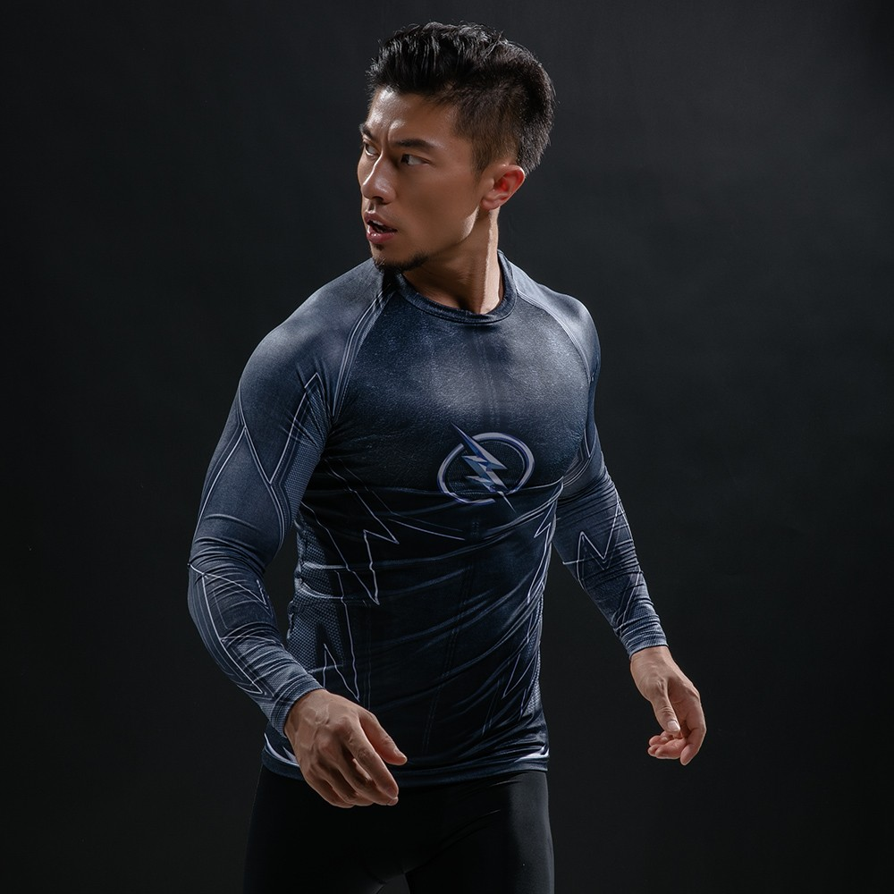 Punisher 3D Printed T-shirts Men Compression Shirts Long Sleeve Cosplay Costume crossfit fitness Clothing Tops Male Black Friday 53