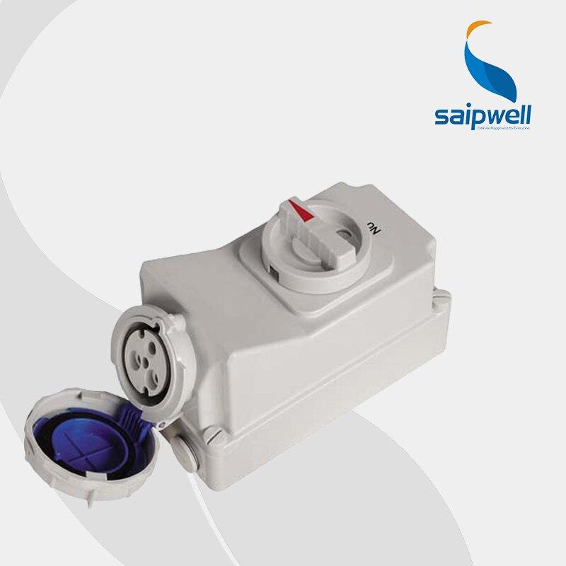 цена на IP67 3P 32A 230V interlock switch socket (SP-5793)