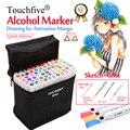 Touchfive 20/30/40/60/80/168 colores arte conjunto de marcadores doble cabeza a base de Alcohol tinta Sketch marcador pluma para el artista dibujo Manga animación diseño grafico suministros marcadores de colores