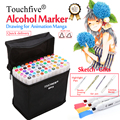 Touchfive Marker 30/40/60/80/168Colors Art Markers Set Alcohol Based Sketch Brush Marker Pen For Artist Drawing Manga Animation