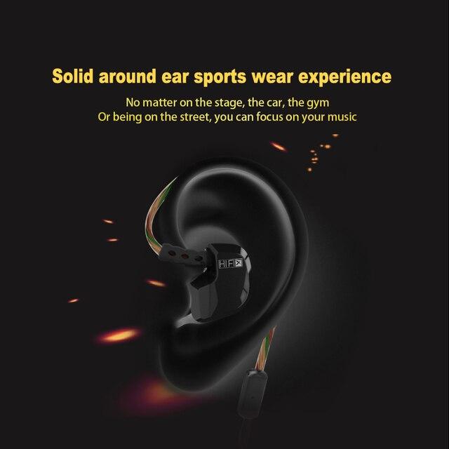 Earphone Original QKZ DM200 3.5mm in ear Earphones HIFI Metal Stereo Earphones Super Bass noise isolating fone de ouvido