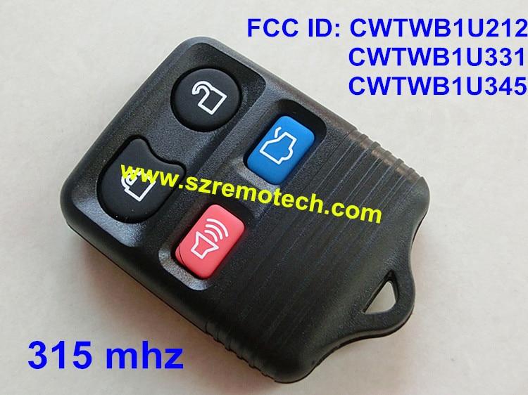 Prix pour Clé de voiture à distance pour voiture ford split 4 bouton télécommande 315 mhz FCC ID: CWTWB1U212 CWTWB1U331 CWTWB1U345