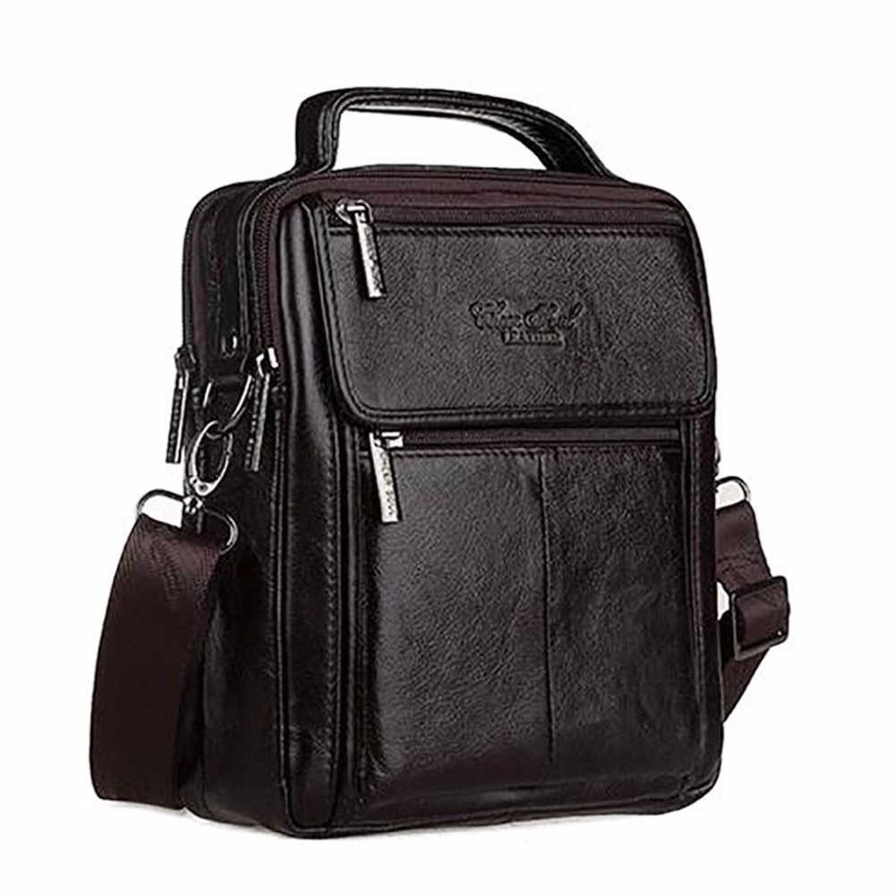 Made Of Genuine Leather Crossbody Messenger Shoulder Bag Men Business Cowhide Tote Handbag High Quality Travel Casual Male Bags genuine leather crossbody messenger shoulder bag men business cowhide tote high quality travel casual male bags lj 962