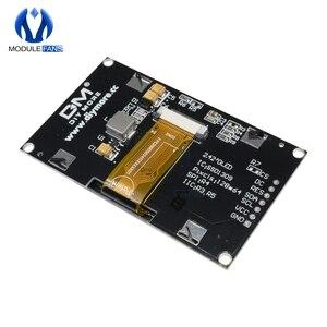 """Image 5 - Azul 2.42 """"tela lcd digital 12864 128x64 módulo de exibição oled placa para arduino ssd1309 stm32 diy eletrônico 2.42 polegada"""