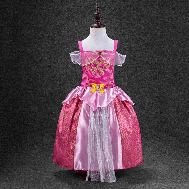 Купить с кэшбэком New My Baby Girl fashion cotton dress Children Clothing Girls little Pony Dresses Cartoon Princess Party Costume Kids Clothes