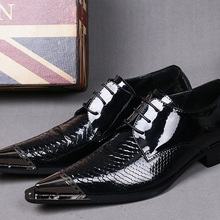 448d7caef7 Buy mens pointed metal toe dress shoes and get free shipping on ...