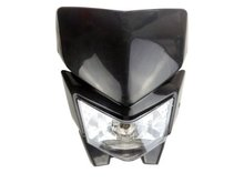 цена на Black Dirt Bike Headlight Fairing for Kawasaki KX KLX 65 85 100 110 140 250 450Yamaha YZ TTR WR 125 450 For Honda CRF50F CRF70F