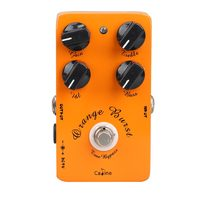 High Quality Guitar Overdrive Pedal True Bypass EQ CP 18 Metal Casing Orange Musical Instruments