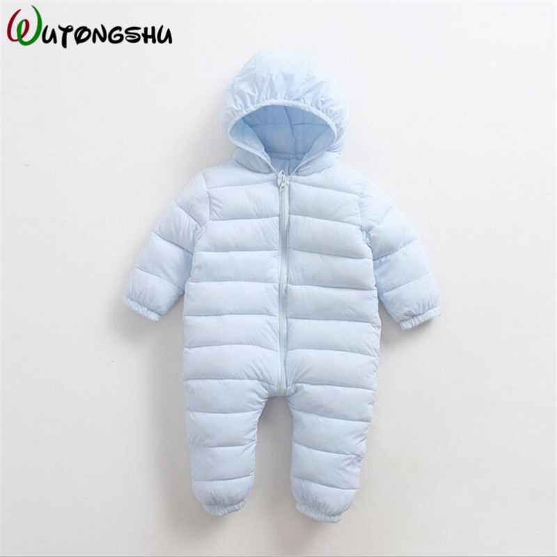 Baby Rompers Keep Thick Warm Autumn Winter Cotton Infant Jumpsuit Long Sleeve Boys Girls Playsuits Baby Hooded Outwear Clothes autumn winter baby clothes cartoon cotton thick warm infant jumpsuit clothing baby boys girls rompers overalls good quality