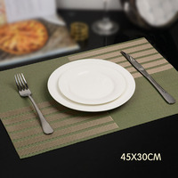 6 Pcs Set Modern West PVC Dining Table Placemat Kitchen Tool Tableware Pads Coaster Coffee Tea