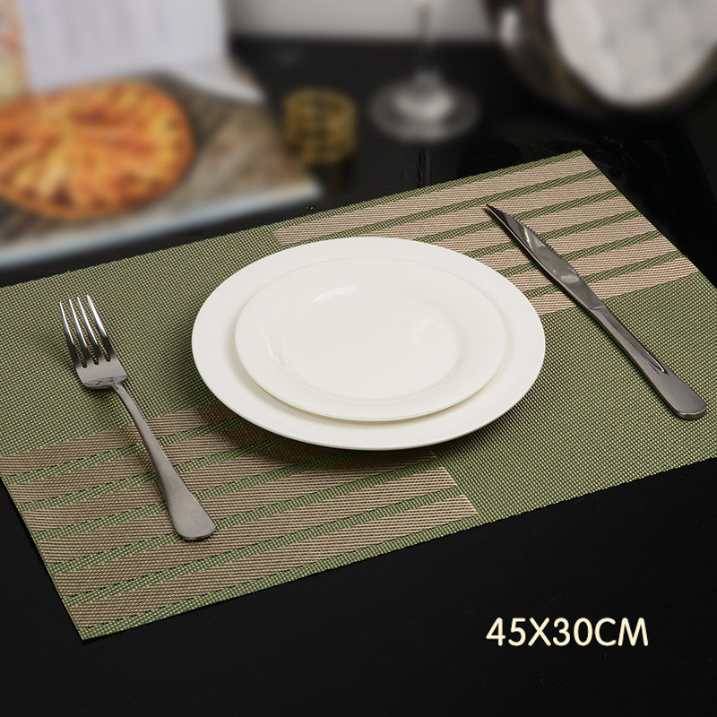6 pcs set modern west pvc dining table placemat kitchen tool tableware pads coaster coffee tea place mats ls - Kitchen Table Mats
