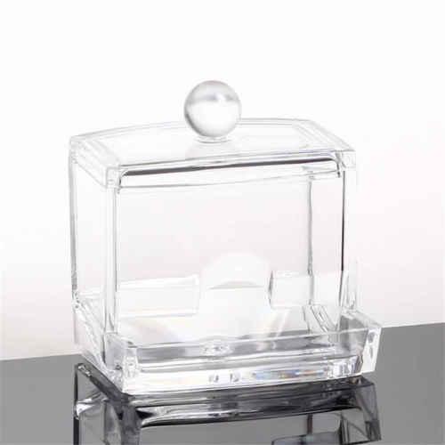 Коробка для тампона, прозрачные акриловые подушечки, держатель для хранения косметики, ватный тампон, держатель, коробка для макияжа, органайзер, ватные тампоны, экологически чистые
