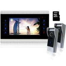 Homefong 10″Video Intercom Door Phone  Intercom System Night Vision Inter-conversation Doorbell  Door Entry 1200TVL with SD card