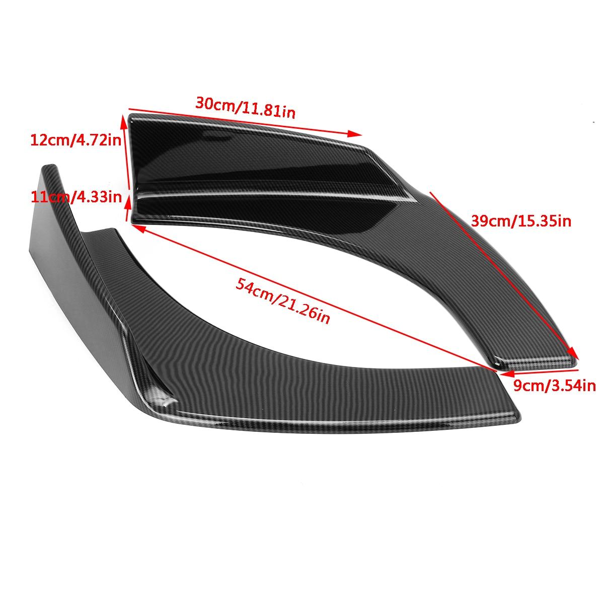 4Pcs Universal Car Front Bumper Deflector Lip Splitter Fins Body Spoiler Aramox Car Front Bumper Canards