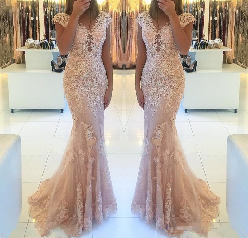 Charming Mermaid Lace   Evening     Dresses   Floor Length 2019 Robes De Soiree Longue Formal Women Special Occasion Pageant   Dress