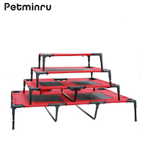 Petminru Oxford Cloth Foldable Pet Bed Removable Pet Kennel Dog House Sofas Steel Camp Bed Indoor Outdoor Portable Pet Sleep Bed