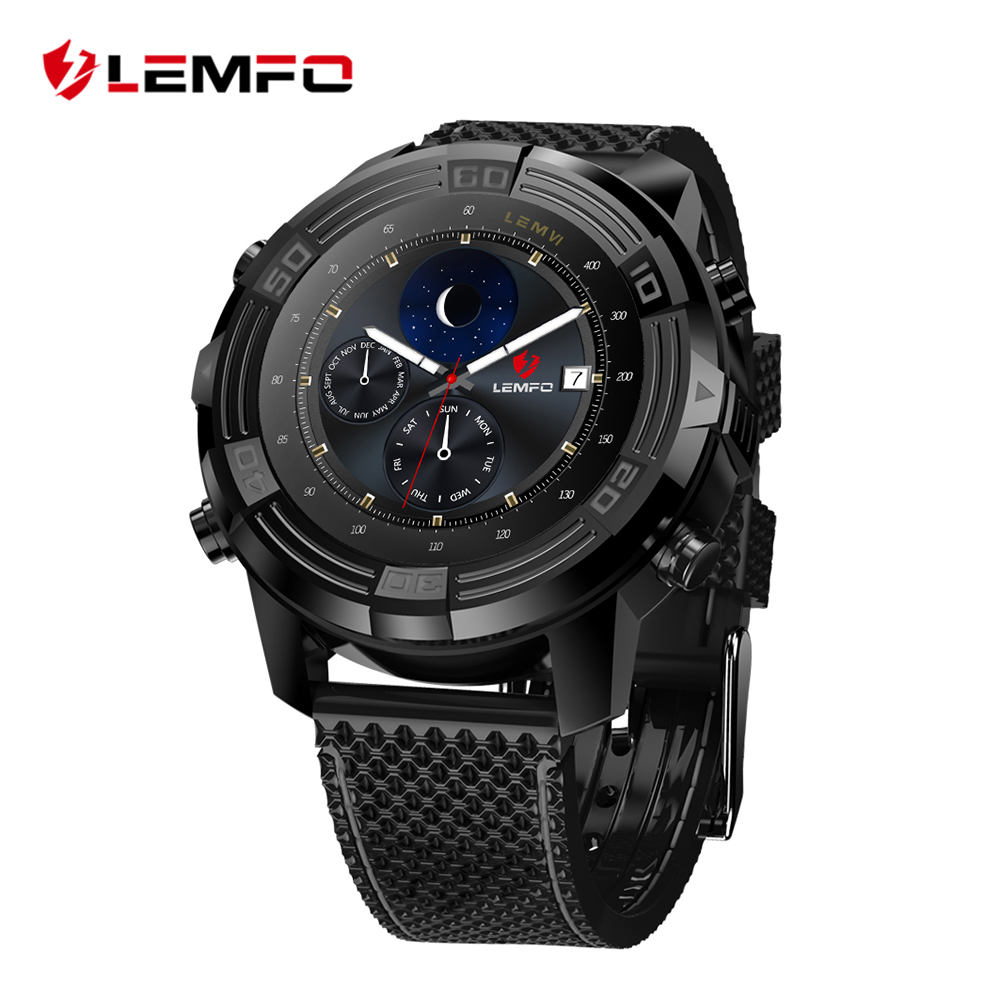 LEMFO LEM6 Android 5.1 Smart Watch Phone Waterproof GPS Tracker 1GB + 16GB Smartwatch with Replaceable Strap