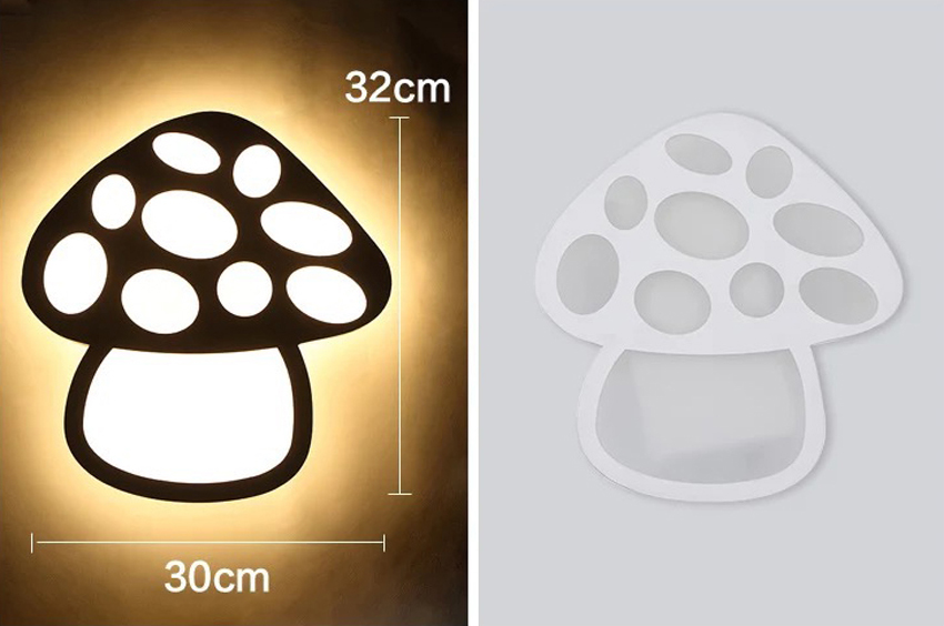 Modern led wall lamp for kids bedroom 220v 17w25w acrylic mushroom modern led wall lamp for kids bedroom 220v 17w25w acrylic mushroom lampshade home decoration led wall light home lighting in led indoor wall lamps from aloadofball
