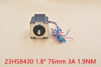 nema23 stepper motor 23HS8430 single shaft 2 phase 4 lead 270oz-in 76mm 3A 1pcs image