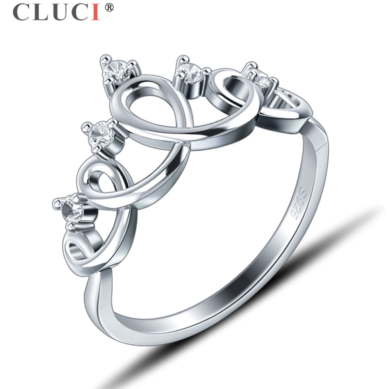 Aliexpress.com : Buy CLUCI Real 925 Sterling Silver Crown ...