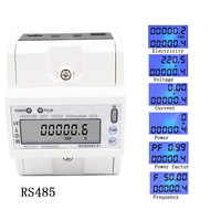 lcd ac220V 230V 50HZ 60HZ 5 80A RS485(MODBUS RTU) remote meter reading function backlight Electric energy meter Power meter Kwh