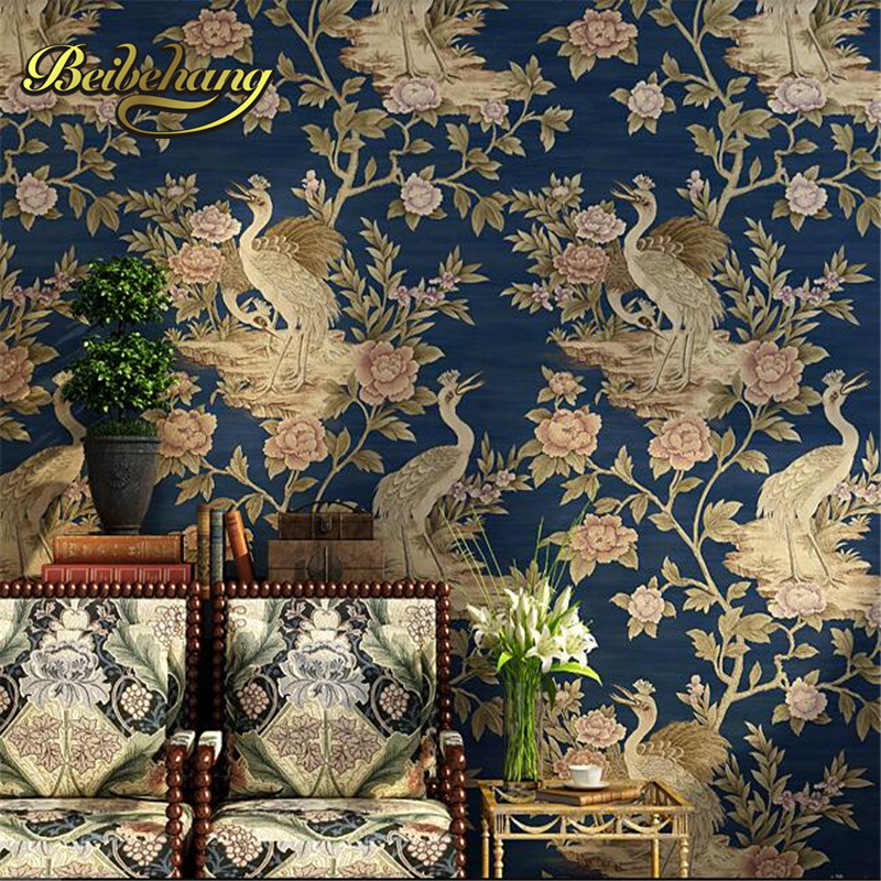 beibehang High grade Southeast Asia bedroom living room TV backdrop wallpaper deep embossed environmental protection