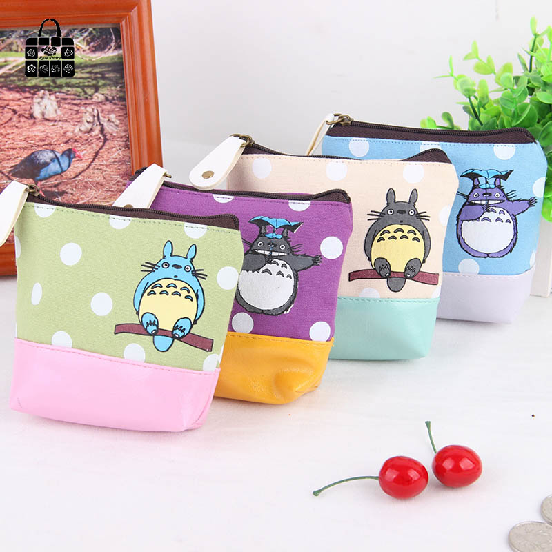 1 pcs RoseDiary Coin purses,lovely Cartoon totoro canvas zero wallet child girl women change purse,lady zero wallets,coin bag full ink 6 pcs ink cartridge t0771 t0772 t0773 t0774 t0775 t0776 for epsonr260 r380 r280 rx580 rx680 rx595
