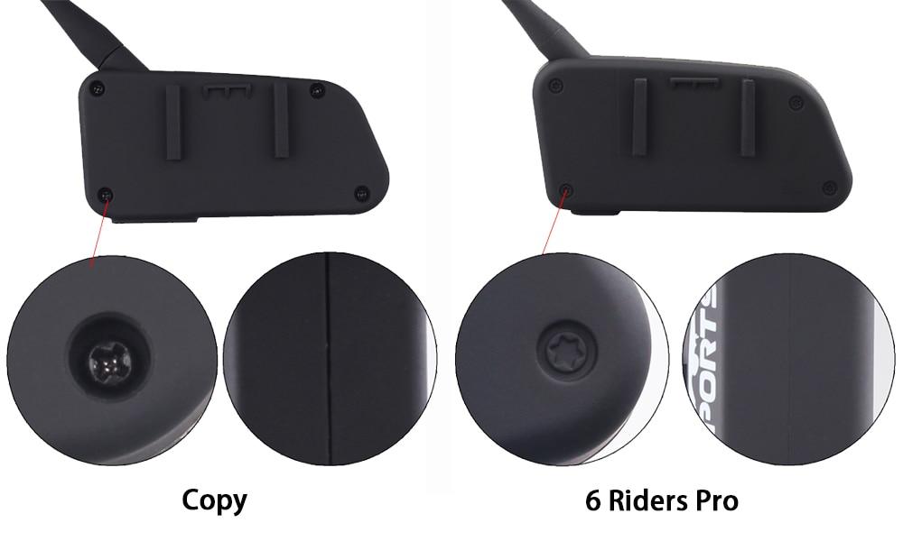 906ea0e9cac 2017 Fodsports 2 pcs V6 Pro Motorcycle Helmet Bluetooth Headset Intercom 6  Riders 1200M Wireless Intercomunicador BT Interphone