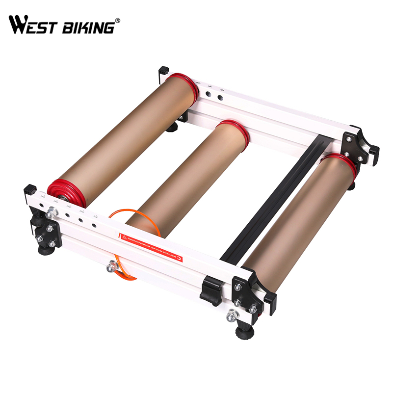WEST BIKING Indoor Bicycle Trainers Tool Rollers Cycling Training Station Folding Road MTB Bike Exercise Fitness Bicycle Trainer ...