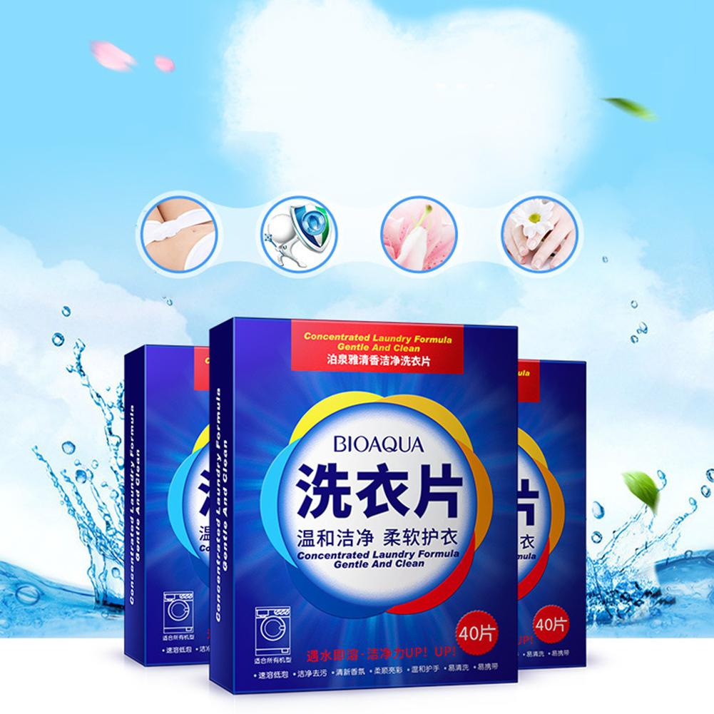 120Pcs Nano Super Concentrated Washing Soap Laundry Tablets Laundry Clean Gentle Washing Detergent Sheets Home Supplies Travel image