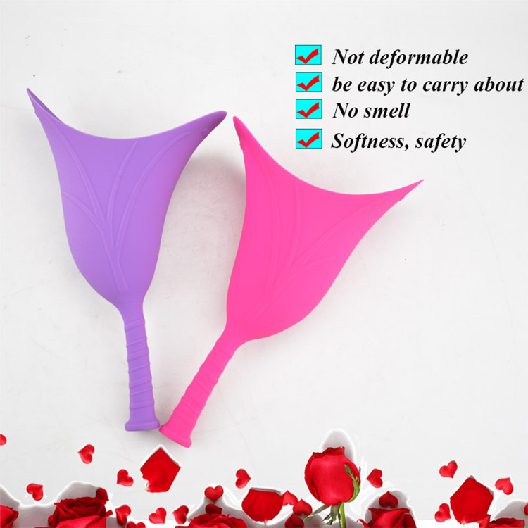Female Travel Camping Standing Soft Silicone Urinal Collapsible Toilet Funnel