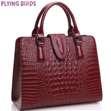 FLYING BIRDS! genuine leather handbag women handbags women leather bag messenger bags ladies pouch bolsa feminina LS4838fb