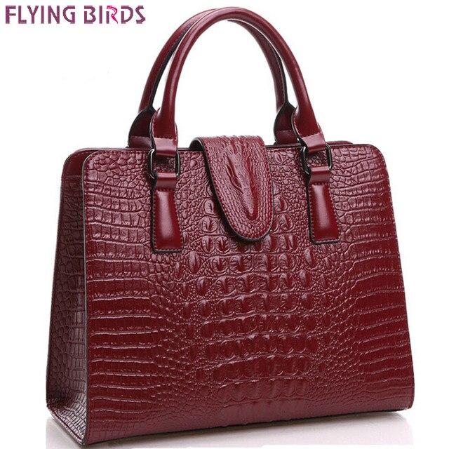 Flying birds! bolso del cuero genuino de las mujeres bolsos de cuero de las mujeres bolsa de mensajero bolsos de las señoras bolsa bolsa feminina LS4838fb