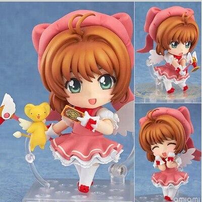 10 cm Sakura Cardcaptor figuras de acción PVC brinquedos colección figuras juguetes para regalo de Navidad envío gratis