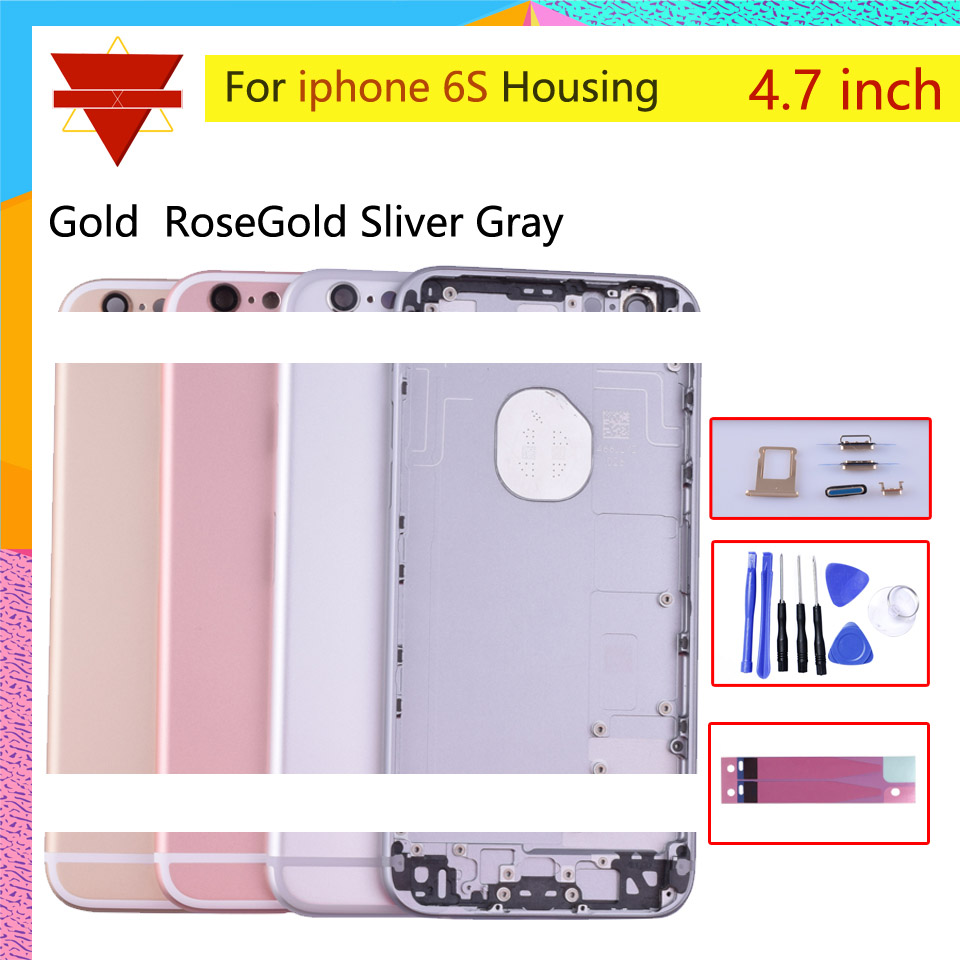 Image 2 - Original quality For iPhone 6S Back Housing Battery Cover Rear Door Case Middle Chassis Replacement For USA or Euro VersionMobile Phone Housings & Frames   -