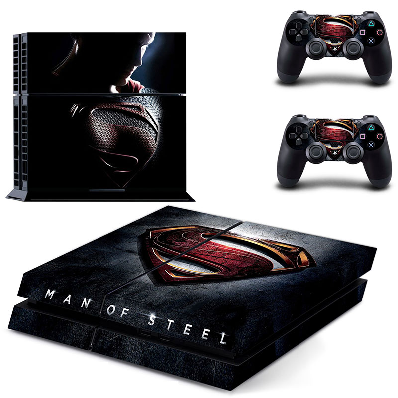 ps 4  Sticker PS4 Skin of MAN OF STEEL for Sony PS4 PlayStation 4 and 2 controller skins