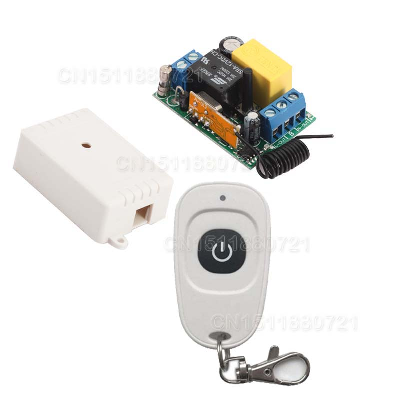 220V Mini Remote Switch 315/433.92 ASK Support RF Broad*link RM2 RM-pro Learning Code Receiver Light Lamp LED Power Remote ONOFF free shipping light lamp led bulb household appliances industrial equipment power remote on off smart home learning code ask