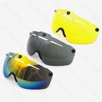 Capacete de bicicleta olho casco ciclismo lente aero capacete triathlon tt estrada ciclismo capacete lente tempo julgamento óculos acessórios|Capacete da bicicleta| |  -