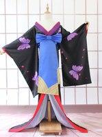 Бесплатная доставка Аниме Кобаяши Сан Чи нет горничной Дракон Костюмы для косплея lukeya Косплэй кимоно черно белой печати Новый год платье