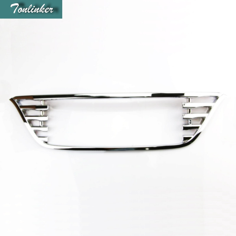 Tonlinker 1 PCS DIY Car styling Styling ABS Chrome Front Grille Frame Stickers for HONDA VEZEL  HRV 2014-15 Parts Accessories
