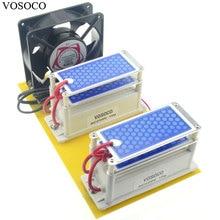 Портативный DIY генератор озона 220 В 20 Гц/ч синий пленка влагостойкие Керамика пластины озонатор воды, воздуха стерилизовать очиститель лечение