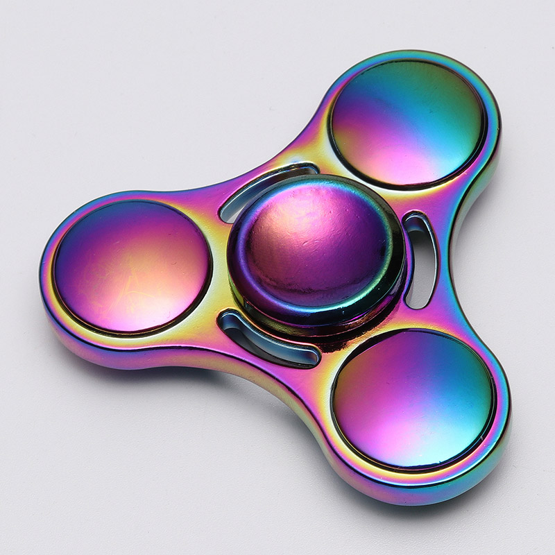 Alloy fidget spinner Rainbow Color Lasting rotation Fine craft Low ...