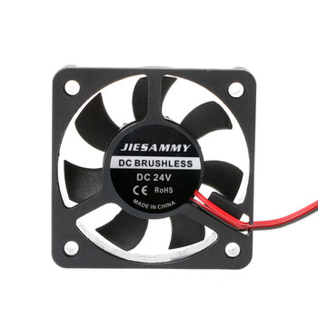 DC 24V 2Pin Mini Brushless Cooler 7-Blade Blower Cooling Fan 5010 Black 50mmx50mmx10mm High Quality C26 image